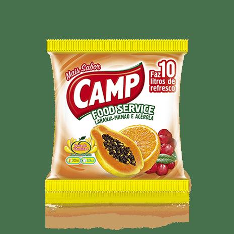 Camp Food Service Laranja, Mamão e Acerola  150g